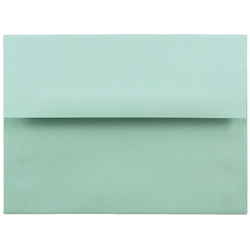 JAM Paper® A6 Invitation Envelopes, 4.75 x 6.5, Aqua Blue, Bulk 250/Box (157460H)