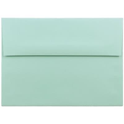 JAM Paper® A7 Invitation Envelopes, 5.25 x 7.25, Aqua Blue, 250/box (1523985H)