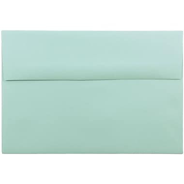 JAM Paper® A8 Invitation Envelopes, 5.5 x 8.125, Aqua Blue, 25/pack (1523988)