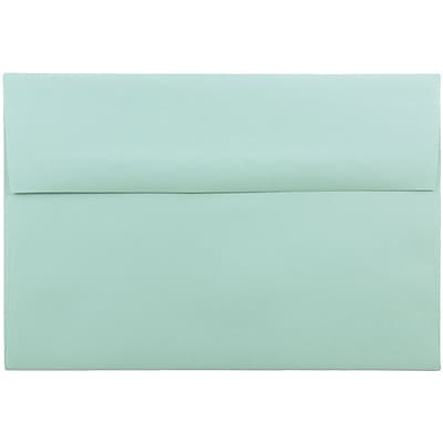 JAM Paper® A8 Invitation Envelopes, 5.5 x 8.125, Aqua Blue Recycled, 50/pack (1523988I)