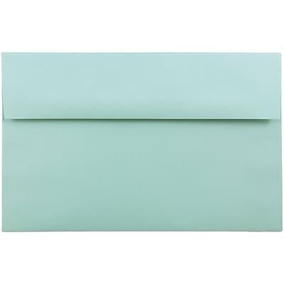 JAM Paper® A10 Invitation Envelopes, 6 x 9.5, Aqua Blue, 50/pack (1523993I)