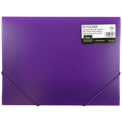 JAM Paper® Plastic Paper Holder Action Case, Elastic Closure, Letter 9 1/2 x 12 3/8, Light Purple, Sold Individually (33214719)