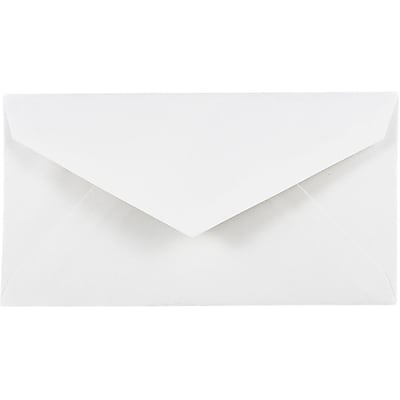 JAM Paper® Monarch Envelopes, 3 7/8 x 7 1/2, White, 500/box (4093007H)