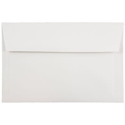 JAM Paper® A9 Invitation Envelopes, 5.75 x 8.75, White, 100/pack (4023213C)