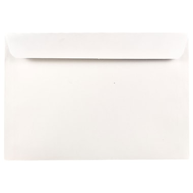 JAM Paper® 6.5 x 9.5 Booklet Envelopes, White, 25/pack (4241)