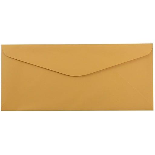 JAM Paper® #14 Business Commercial Envelopes, 5 x 11.5, Brown Kraft Manila, Bulk 500/Box (1633182H)