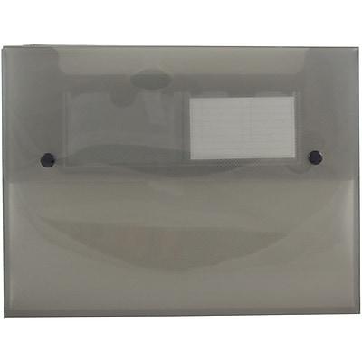 JAM Paper® Plastic Portfolio with Two Button Snap Closure - 9 1/2