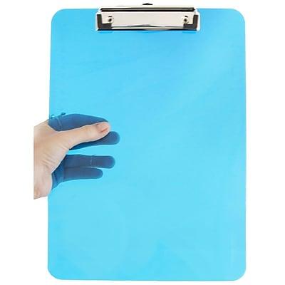 JAM Paper® Plastic Clipboards, 9 x 13, Blue, 12/pack (340926882A)