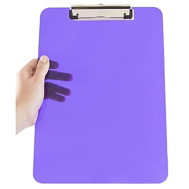 JAM Paper® Plastic Clipboards, 9 x 13, Purple, 12/pack (340926881A)