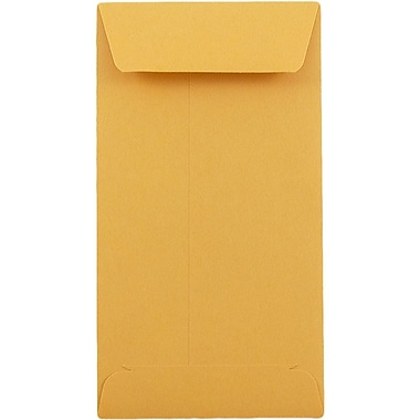 JAM Paper® #5.5 Coin Envelopes, 3 x 5 1/2, Brown Kraft, 25/pack (1623991)