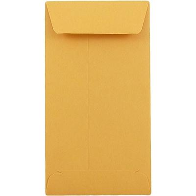 JAM Paper® #5.5 Coin Envelopes, 3 x 5 1/2, Brown Kraft, 1000/carton (01623991B)