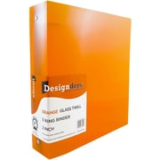 JAM Paper® Plastic 3 Ring Binder, 2 Inch, Orange Sold Individually (820T2OR)