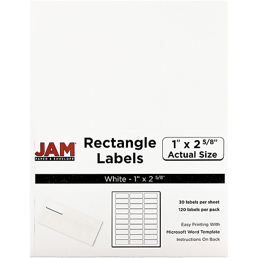jam paper mailing address labels 1 x 2 5 8 white 120 pack