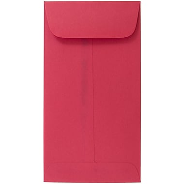 JAM Paper® #7 Coin Envelopes, 6.5 x 3.5, Brite Hue Red Recycled, 25/pack (355228282)