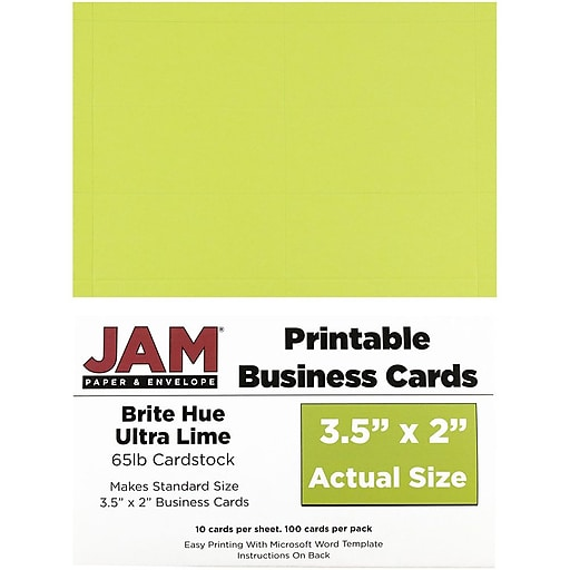 Jam paper two sided printable business cards 2 x 35 bright hue httpsstaples 3ps7is colourmoves