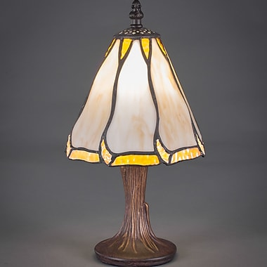 Toltec Lighting 12'' Table Lamp; Honey and Brown