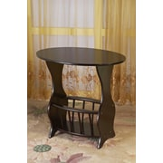 Mega Home Magazine End Table; Cherry
