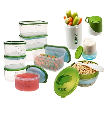 Fit & Fresh Perfect Portion 10 Container Food Storage Set WYF078277455115