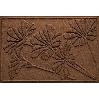 Bungalow Flooring Aqua Shield Spring Flowers Doormat; Dark Brown