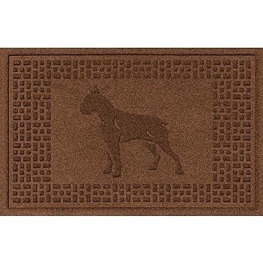Bungalow Flooring Aqua Shield Boxer Doormat; Dark Brown