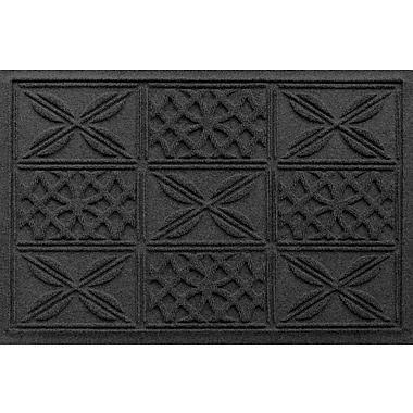 Bungalow Flooring Aqua Shield Patchwork Grid Doormat; Charcoal