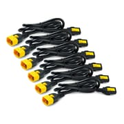 APC® Power Cord Kit, 6', IEC 320 C13 to IEC 320 C14, Black, 6/Pack