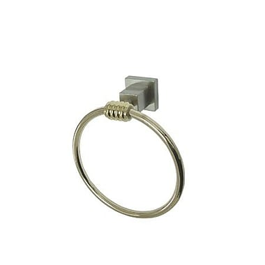 Elements of Design Fortress Wall Mounted Towel Ring; Satin Nickel /Polished Brass