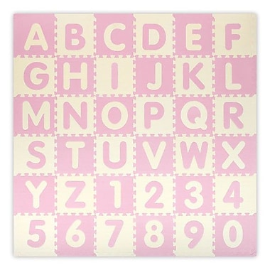Alessco Play and Learn Style 1310 Mat; Baby Pink and Ivory