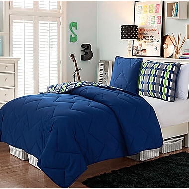 VCNY Juniper 2 Piece Comforter Set; Navy