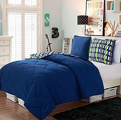 VCNY Juniper 2 Piece Comforter Set; Navy