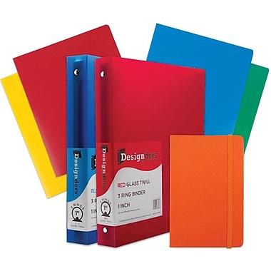 JAM Paper® Back To School, Classwork Pack, 4 Heavy Duty Folders, 2 1