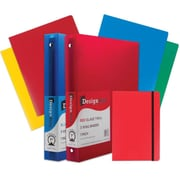 "JAM Paper® Back To School Assortments, Classwork Pack, 4 Heavy Duty Folders, 2 1"" Binders, 1 Journal, Red, 7/pack (383CW1RASSRT)"