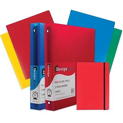 JAM Paper® Back To School Assortments, Classwork Pack, 4 Heavy Duty Folders, 2 1
