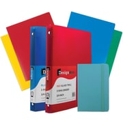 "JAM Paper® Back To School Assortments, Classwork Pack, 4 Heavy Duty Folders, 2 .75"" Binders, 1 Journal, Blue, 7/pk (383CWBASSRT)"