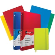 "JAM Paper® Back To School Assortments, Green Classwork Pack, 4 Heavy Duty Folders, 2 .75"" Binders, 1 Journal, 7/pk (383CWGASSRT)"