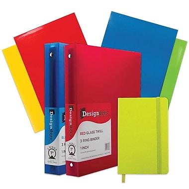 JAM Paper® Back To School Assortments, Classwork Pack, 4 Glossy Folders, 2 1
