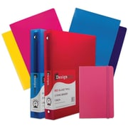 "JAM Paper® Back To School Assortments, Pink Classwork Pack, 4 Glossy Folders, 2 1"" Binders, 1 Journal, 7/pack (385CW1PASSRT)"