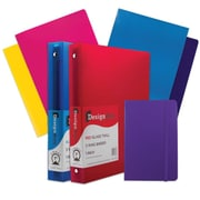 "JAM Paper® Back To School Assortments, Purple Classwork Pack, 4 Glossy Folders, 2 1"" Binders, 1 Journal, 7/pack (385CW1PRASSRT)"