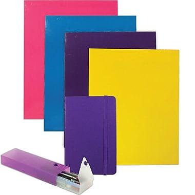 JAM Paper® Back To School Assortments, Red Homework Pack, 4 Glossy Folders, 1 Journal, 1 Pencil Case, 6/Pack (385HWPRASSRT)