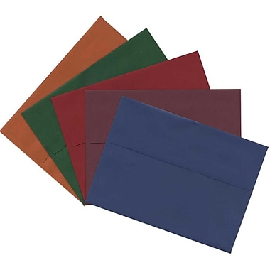JAM Paper® A7 Invitation Envelopes, 5.25 x 7.25, Assorted, 125/Pack (6391A7DBGORB)