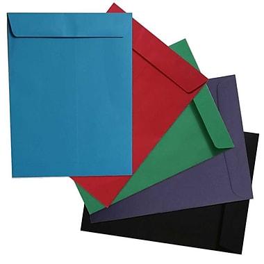 JAM Paper® 9 x 12 Open End Catalog Envelopes, Brite Hite Assorted, 50/pack (8034ASSRTD)