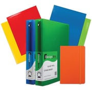 "JAM Paper® Back To School Assortments, Classwork Pack, 4 Glossy Folders, 2 1.5"" Binders, 1 Journal, Orange, 7/pack (CWG15OASSRT)"
