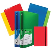 JAM Paper® Back To School Assortments, Red Classwork Pack, 4 Glossy Folders, 2 1.5 Inch Binders, 1 Journal, 7/pack (CWG15RASSRT)