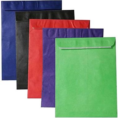 JAM Paper - Enveloppes en Tyvek pour catalogues à ouverture au sommet auto-adhésive, 10 x 13 po coul. var., 25/pqt (V0123ASSRTD)