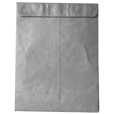 JAM Paper® 11.5 x 14.5 Tyvek Envelopes, Open End Catalog with Self Adhesive Closure, Silver, 25/pack (V021387)