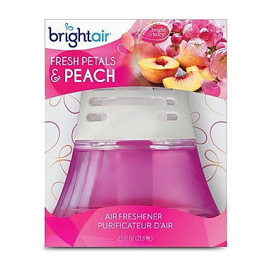 Bright Air Scented Oil Air Freshener non-electric Fresh Petals & Peach, 6 Packs/Case