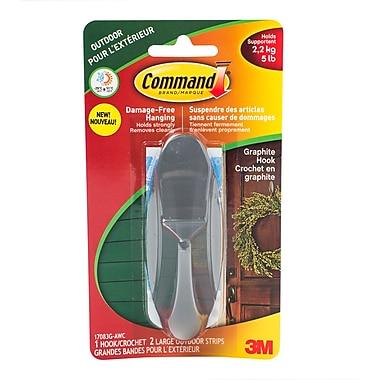 Command – Crochet en graphite avec bandes quatre saisons, grand