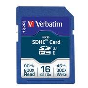 Verbatim - Carte mémoire 600x Pro SDHC, 16 Go, classe 10