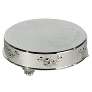 """Elegance 14"""" Silver Plated Round Cake Plateau"""