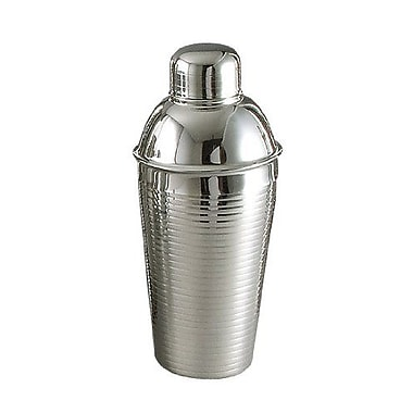 Elegance 22 Ounce Lines Stainless Steel Cocktail Shaker